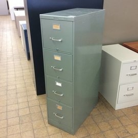 Green 4 Drawer vertical File Cabinet (6/11/18)