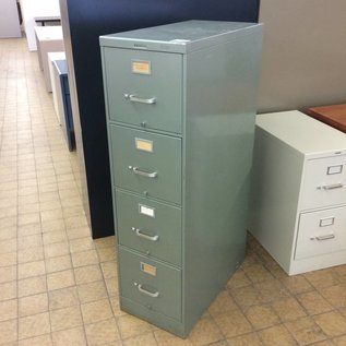 Green 4 Drawer vertical File Cabinet