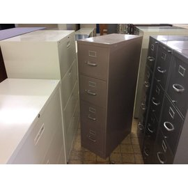 Mauve 4-drawer metal file cabinet