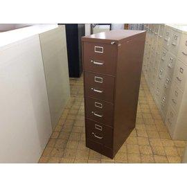 Brown 4 drawer vertical  file cabinet