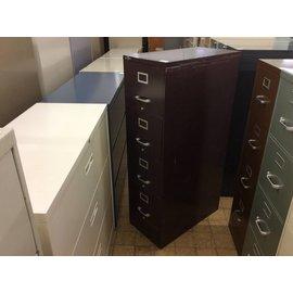 Dark Brown 4 drawer metal vertical file cabinet