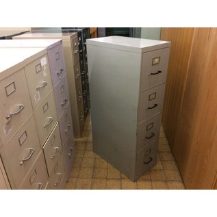 Light grey metal, 4-drawer file cabinet