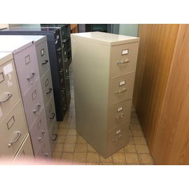 Tan 4-drawer File Cabinet