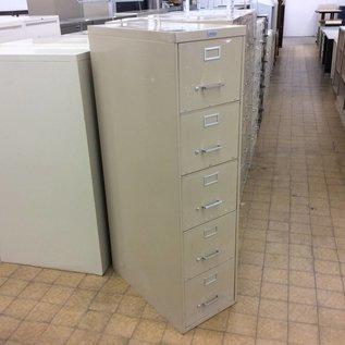 Tan 5 drawer filing cabinet