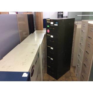 25 x 15 x 60 Green 5 drawer file cabinet