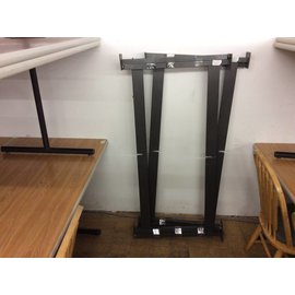 "55 1/2""x27"" Black metal table legs (set of 2)"