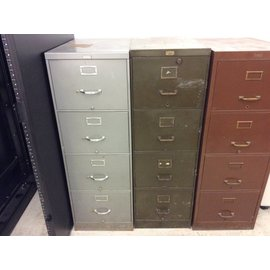 Drk.Green Legal-size 4-dr. Filing Cabinet