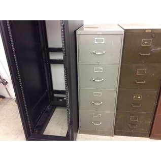 Gray vertical 4 drawer legal file cabinet