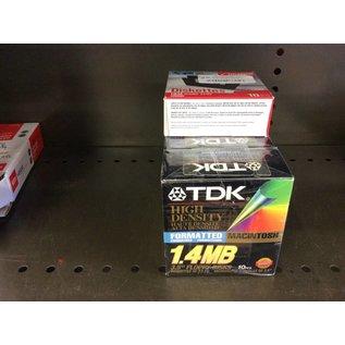 "TDK high density 3.5"" floppy disks 6 bxs of 10"