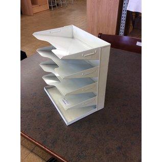 metal 5 tier paper tray
