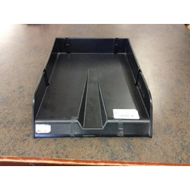 Black plastic Letter Tray -legal size