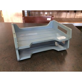 2-tier Paper Tray blue/grey