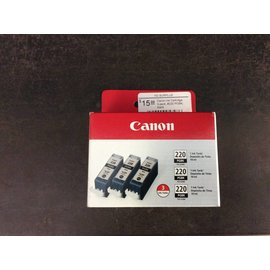 Canon Ink Cartridge 3-pack, #220 PGBK, black