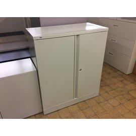 """18x36x42 1/4"""" Beige metal storage cabinet"""