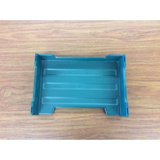 Green plastic paper tray