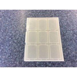 9 slot plastic Mini DV case