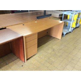 "30x72x30 1/2"" Wood left pedestal desk"