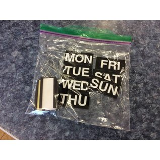 Magnets days of the week + extras