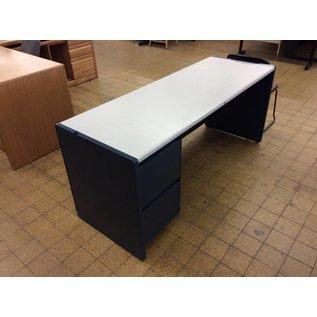"""25x70x30"""" Blue steelcase left pedestal credenza"""