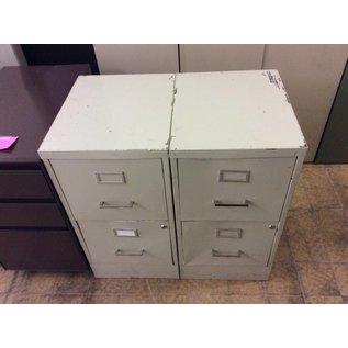 "18x15x29"" Beige metal 2 drawer file cabinet"