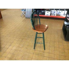 Swivel wood counter height stool