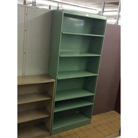 12x37x84 Green metal bookcase