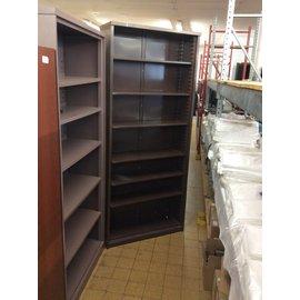 12x37x84 Brown metal bookcase