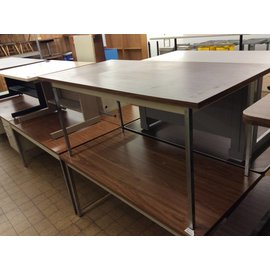 30x60x29 Wood top table with metal legs