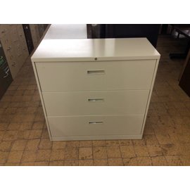 "18x42x41 1/2"" Beige 3 drawer lateral file"