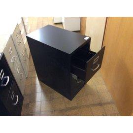 15x25x29 Black 2 drawer file cabinet