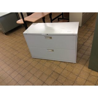 19x42x28 Beige 2 drawer lateral file cabinet