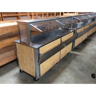 Cooled restaurant buffet cart (1 bin)