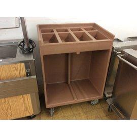 "21x32x44"" Plastic Silverware service cart"