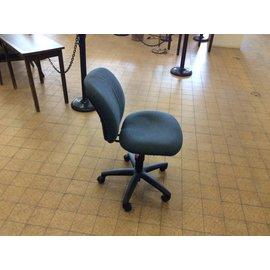 Blue padded desk chair
