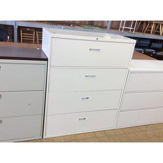 "18x42x52 1/4"" Tan 4 drawer lateral file"