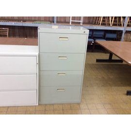 """18x30x52 1/4""""  beige 4 drawer lateral"""