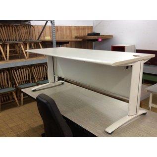 "30x72x28 3/4"" Tan computer table"