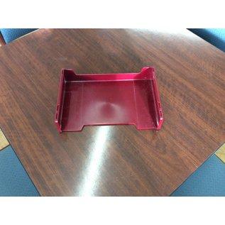 Maroon plastic paper tray