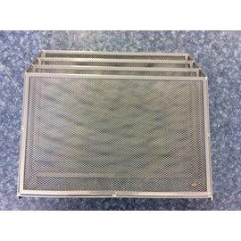 3 slot gray mesh paper organizer