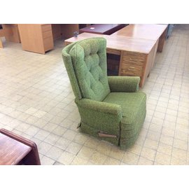 Green padded recliner chair