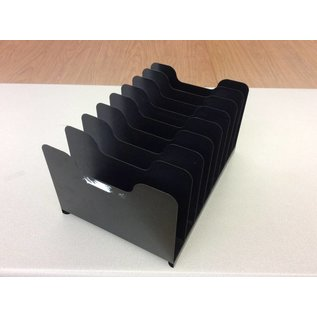 8 slot black metal file organizer