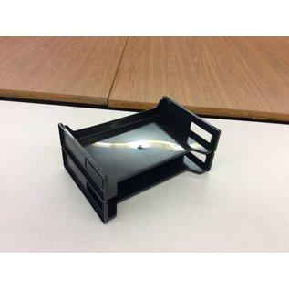 2-tier black Paper trays