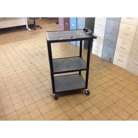 Black A/V Cart on castors