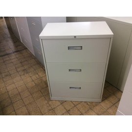 18x30x41 Tan 3 drawer lateral file cabinet