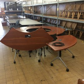 24x67 1/4x29 Half moon conference/seminar tables