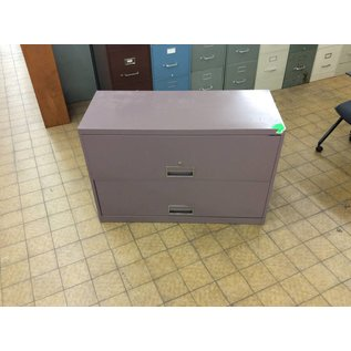 18x42x28  mauve 2 drawer lateral file