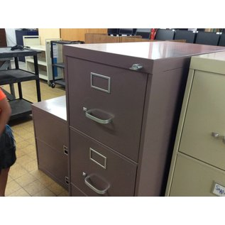 Mauve File Cabinet metal 4 drawer (8/9/18)