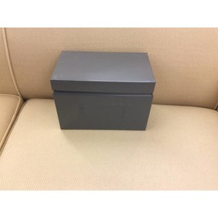 "Metal box 8 1/2x5 3/4"" for index cards"