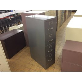 Gray 4 drawer filing cabinet