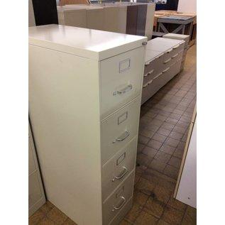 4 drawer Beige file cabinet